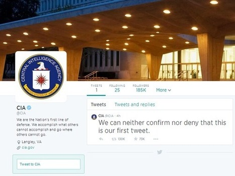 CIA não confirma nem desmente que está no Twitter | Cultura de massa no Século XXI (Mass Culture in the XXI Century) | Scoop.it