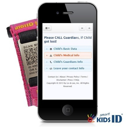 The New QR-Code Child ID - a Transformation of ...   Keep your kids safe with child Id and medical Id bracelets using QR Codes!   Scoop.it
