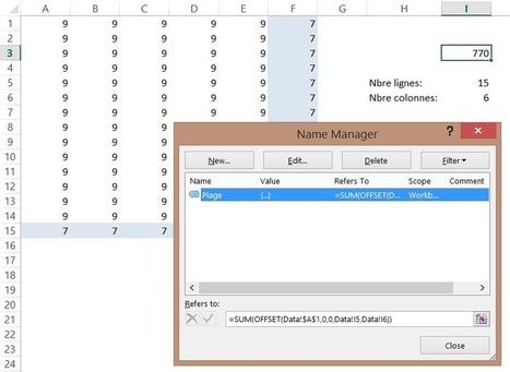 Excel : Évitez de faire référence à des plages de données plus grandes que nécessaire | MSExcel | Scoop.it
