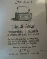 Colonial Basket Pattern 12 x 4 x 10 Inches. | Fiber Arts | Scoop.it
