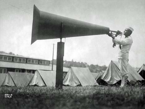 Huge Megaphone Aids Camp Bugler in Waking Up the Neighborhood | DESARTSONNANTS - CRÉATION SONORE ET ENVIRONNEMENT - ENVIRONMENTAL SOUND ART - PAYSAGES ET ECOLOGIE SONORE | Scoop.it