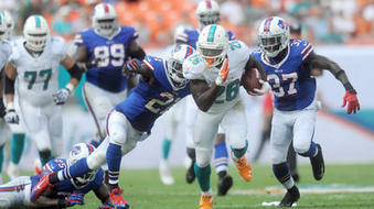 Dolphins RBs (finally) show they can gain yards on their own | Daniel Thomas | Scoop.it