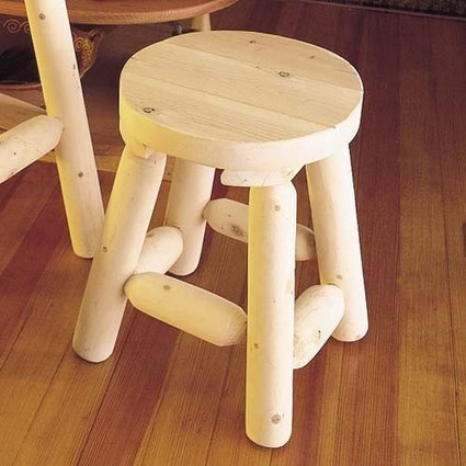 (1)   Bar Stool 18in 2 Per Box Rustic Natural Cedar Furniture | Cheap Dinning Chairs | Scoop.it