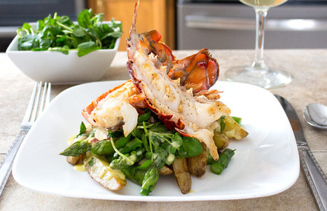 #HealthyRecipe / Grilled Lobster with Roasted Fingerling Potato & Watercress Salad | The Man With The Golden Tongs Goes All Out On Health | Scoop.it