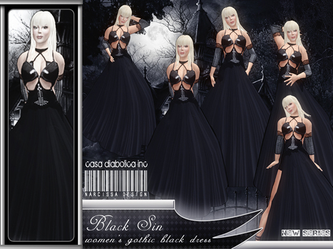 Black Sin Dress by Narcissa Designs | Teleport Hub | Second Life Freebies | Scoop.it