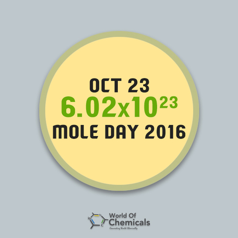 Celebrating Mole Day to foster interest in chemistry - World Of Chemicals | Article On Chemistry -  Find Out Chemical Industry Best Articles only at World Of Chemicals | Scoop.it