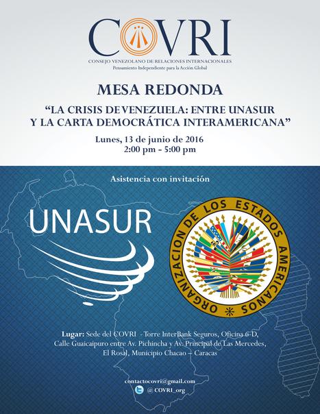Gestiones internacionales a la salida de la Crisis en Venezuela: entre UNASUR y la OEA | Algunos temas sobre el Caribe y Relaciones Internacionales | Scoop.it