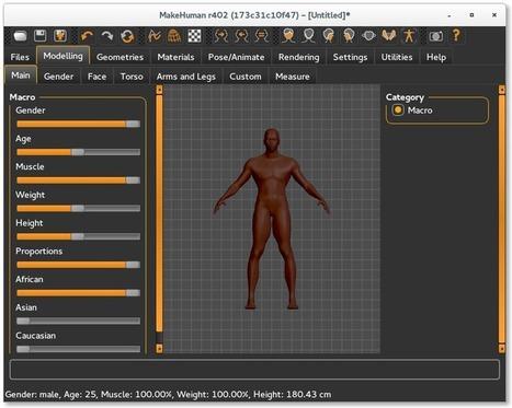 MakeHuman – Un logiciel de modélisation intéressant | Time to Learn | Scoop.it