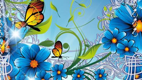 Mangnificent Summers Blue Flowers Download Hd Pictures « Pin HD Wallpapers | Flowers Wallpapers | Scoop.it