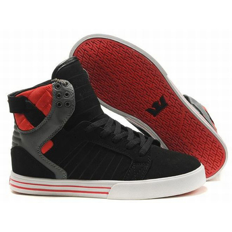 Supra Skytop High Tops Black/Red/White Men's   share and want   Scoop.it