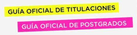 Guía Oficial de Titulaciones y Postgrados de las Universidades Españolas 2012-2013 | BLOGOSFERA DE EDUCACIÓN SUPERIOR Y POSTGRADOS | Scoop.it