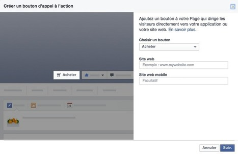 Page Facebook: Comment Ajouter un Bouton Call-to-Action? | Emarketinglicious | Actualité du marketing digital | Scoop.it