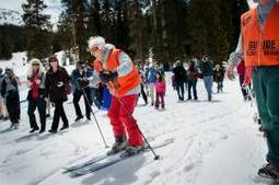 """100-year-old woman from Colorado Springs enjoys a skiing birthday 