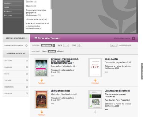 OpenEdition Books : des centaines de livres scientifiques en libre accès | A New Society, a new education! | Scoop.it