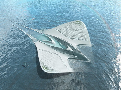 Floating Marine Research Center Inspired by Manta Ray | Architectural Digest | Cities and buildings of Tomorrow | Scoop.it