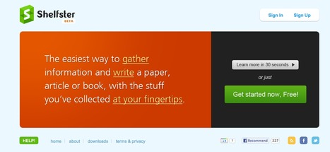 Shelfster - The Best Research Tool for Writers   Education Research   Scoop.it