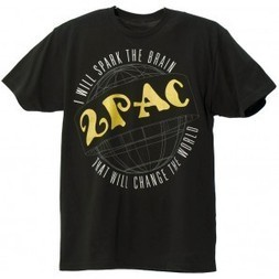 2Pac Spark the Brain T-Shirt black T.A.S.F. 2pac Store | Authentic 2pac gear | 2pac shirt | Scoop.it