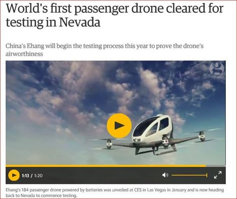 World's first passenger drone cleared for testing in Nevada | Living Health Systems | Scoop.it