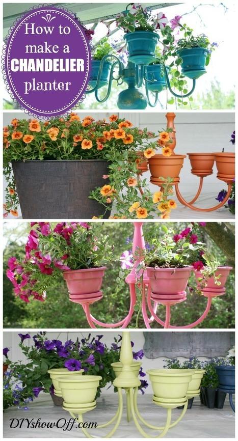 Chandelier Planter Tutorial - DIY Show Off ™ - DIY Decorating and Home Improvement Blog | Récup Création | Scoop.it