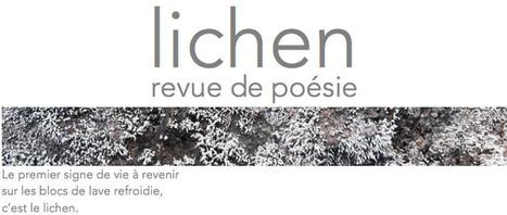 [vient de paraître] Lichen - Revue de Poésie: n° 6 (septembre 2016) | TdF  |    Critique & Revues | Scoop.it