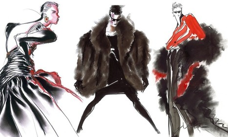 Stunning fashion illustrations from the 80s | Vintage Fashionista | Scoop.it