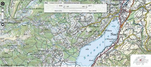 Historical Interactive Topographic Map Of Switzerland Geography