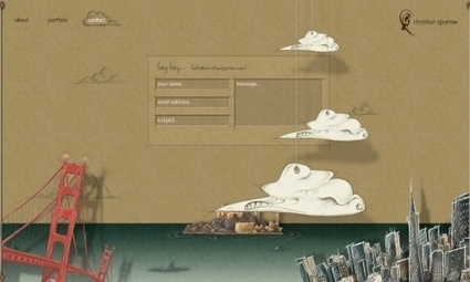 15 Creative and Artistic Contact Pages | VIM | Scoop.it