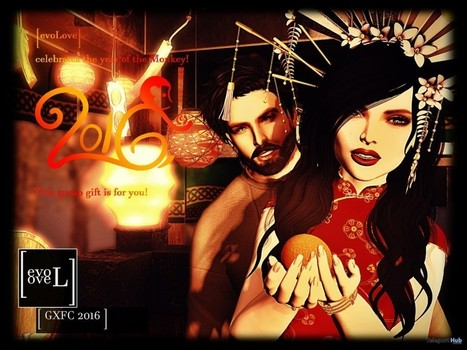 Celebrate The Year Of Monkey Couple Pose by [evoLove] | Teleport Hub - Second Life Freebies | Second Life Freebies | Scoop.it