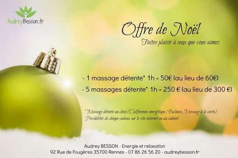 Prestations bien-être - Audrey Besson Massage Rennes | Massage et reflexologie | Scoop.it
