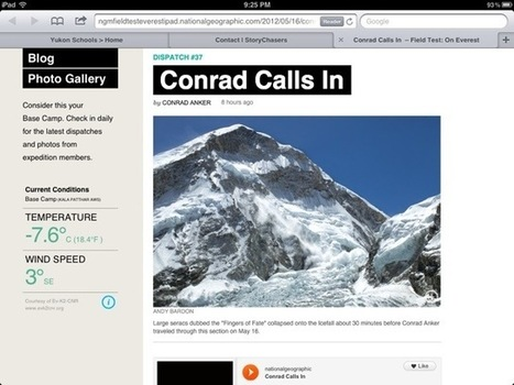 Moving at the Speed of Creativity - Follow a National Geographic Expedition to Everest: Live | ipadinschool | Scoop.it
