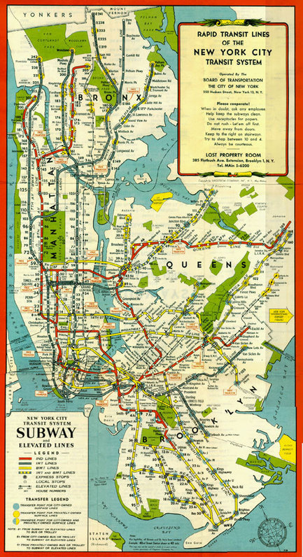 A Treasure Trove Of Historical New York City Subway Maps | visual data | Scoop.it