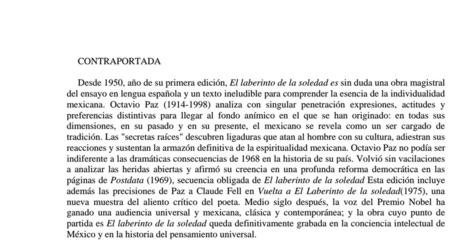 El laberinto de la soledad.pdf | Educacion, ecologia y TIC | Scoop.it