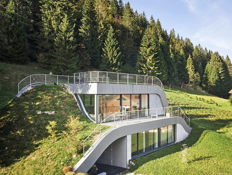"Wavy green-roofed Casa Jura disappears into France's rolling hills (""my type of dream house"") 