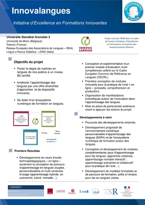 Colloque IDEFI: Poster Innovalangues | E-learning : actualité et perspectives | Scoop.it