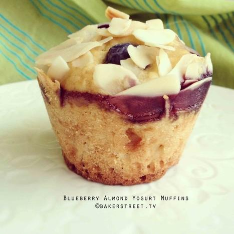 #MuffinMonday: Blueberry Almond Yogurt Muffins   Baker Street   My Recipes and Foods   Scoop.it