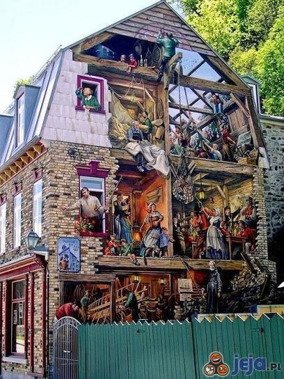 Street art na ścianie budynku - obrazki Jeja.pl | World of Street & Outdoor Arts | Scoop.it