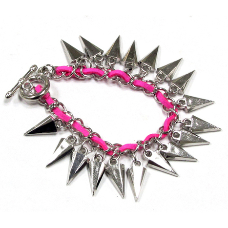 Smoke Beautifully designed, this antique silverpink coloured bracelet from Smoke is surely a smart pick SMBS513   Online Shopping in India   Scoop.it