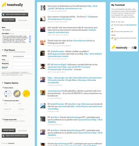 El arte de presenta: 8 herramientas para mostrar Twitter en la gran pantalla | Docens Excellentiam UVa | Scoop.it