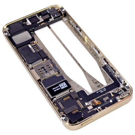 iFixit Teardown of the Gold iPhone 5s [Photos] | Jailbreak News, Guides, Tutorials | Scoop.it