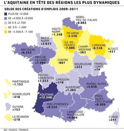 Emploi : l'Ile-de-France en mauvaise position dans le palmarès des ... - Les Échos | Wiki Métiers | Scoop.it
