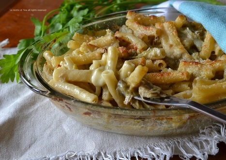 Pasta carciofi e scamorza al forno   La Cucina Italiana - De Italiaanse Keuken - The Italian Kitchen   Scoop.it
