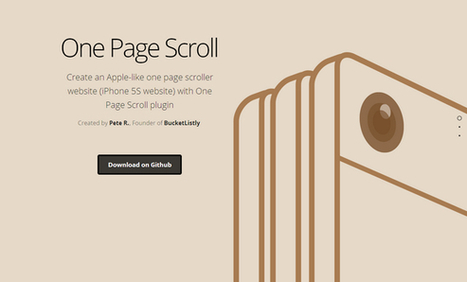 Transform Your Website into One Page Scroll Website | Web Resources | WebAppers | SPIP - cms, javascripts et copyleft | Scoop.it