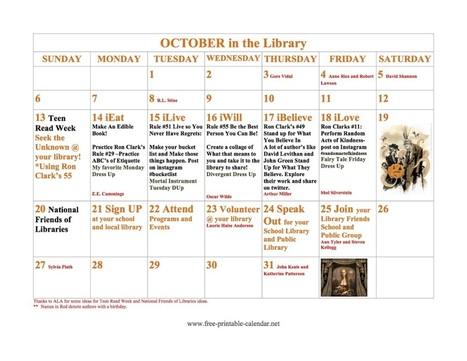 Librarians on the Fly: Interactive Calendars for Your Library using Thinglink and MoveNote | Teacher-Librarian | Scoop.it