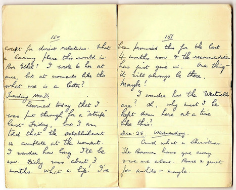 London War Diary: Tuesday 26th November 1940 and 25th December 1940, Christmas Day   London War Diary. Original written pages. 1940   Scoop.it