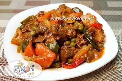 Kalderetang Kambing Recipe (Goat Kaldereta) | Delicious Filipino Foods | Scoop.it