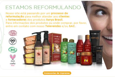 Surya Brasil | Estamos Reformulando. | Cosméticos Naturais | Scoop.it