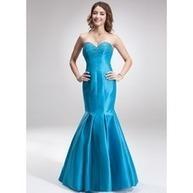 [€ 111.99] Trumpettimekot/Merenneito Kullanmuru Tee Pituus Tafti Morsiusneitojen mekko jossa Helmikuvoinnit (007000815) | fashion dress | Scoop.it