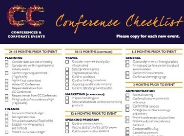 CONFERENCE CHECKLIST - What you need to know for your event... | Events | Scoop.it