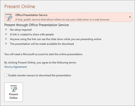 Present on-line using the Office Presentation Service - PowerPoint | technologies | Scoop.it
