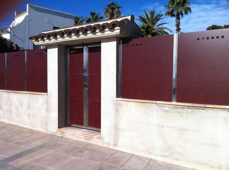 Modelos de valla verjas residenciales cerram - Verjas de madera para jardin ...